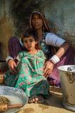 Rabari tribeswoman and granddaughter Stock Photo