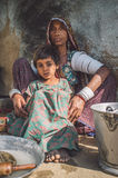 Rabari tribeswoman and granddaughter Stock Photography