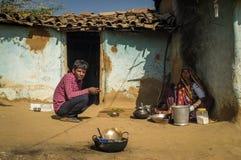 Rabari tribeswoman with son Royalty Free Stock Image