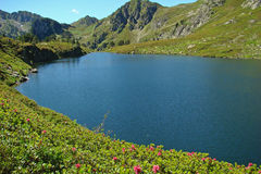 Rabassoles lake in Pyrenees Stock Photography
