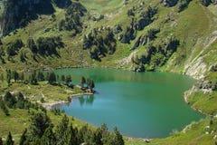 Rabassoles See in Pyrenees Stockbild