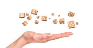 Rabatów pudełka z procentami Obraz Stock