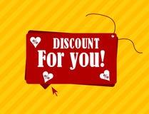 Rabat dla ciebie etykietka z tekstem Fotografia Royalty Free