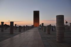 rabat för främre mohamed morocco slott kunglig fyrkant vi Fotografering för Bildbyråer