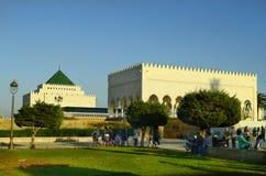 rabat för främre mohamed morocco slott kunglig fyrkant vi Arkivbild