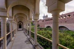 Rabat fortress colonnade. Internal yard with colonnade in Rabat fortress in Georgia Royalty Free Stock Photo
