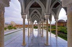 Rabat fortress colonnade. Internal yard with colonnade in Rabat fortress in Georgia Stock Photos