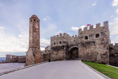 Rabat fortress entrance. The old town (rabat Castle) in Akhaltsikhe in southern Georgia stock image