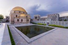 Rabat fortress pool. Internal yard with pool in Rabat fortress in Georgia Royalty Free Stock Photo