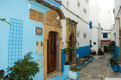Rabat - kasbahoudaia - porta Royaltyfria Foton
