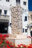 Rabat, Malta - 8. Mai 2017: Monument nahe Victoria-BuchtBushaltestelle in Gozo-Insel Lizenzfreies Stockfoto