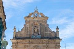 Rabat Malta - Maj 8, 2017: St Francis Church på den Gozo ön i Malta Royaltyfria Bilder