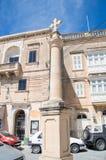 Rabat, Malta - May 8, 2017: Cross near St. Francis Square at Gozo island in Malta. Stock Photo