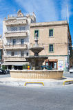 Rabat, Malte - 8 mai 2017 : Fontaine à St Francis Square à l'île de Gozo à Malte Image stock