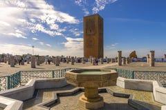 Rabat Marocko, Hassan Tower Arkivfoto
