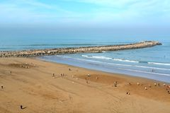 Beach in Rabat, Morocco stock photo