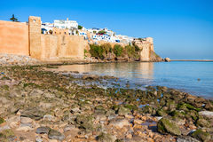 Rabat in Morocco. The Kasbah of the Udayas fortress in Rabat in Morocco. The Kasbah of the Udayas is located at the mouth of the Bou Regreg river in Rabat Stock Image