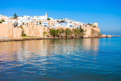 Rabat in Morocco. The Kasbah of the Udayas fortress in Rabat in Morocco. The Kasbah of the Udayas is located at the mouth of the Bou Regreg river in Rabat Royalty Free Stock Image