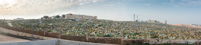 Rabat muslim cemetery. View from Kasbah of the Udayas. Morocco. Rabat, Morocco. North Africa. Stock Photo