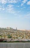 Rabat muslimkyrkogård Sikt från Kasbah av Udayasen morocco Royaltyfria Foton