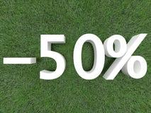 rabat pięćdziesiąt procentów Zdjęcie Stock
