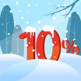 Rabat Postacie w śniegu ilustracja wektor