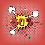 Rabat 50 procentów Wystrzał sztuki retro styl ilustracji