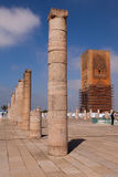 Rabat's Unfinished Mosque and Minaret Royalty Free Stock Photo