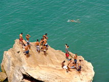 Rabat Swimming Boys Stock Photos