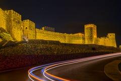 Rabati kasztel w Akhaltsikhe w wieczór obraz royalty free