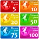 Rabatkarte Lizenzfreies Stockfoto