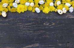 rabatowa kolorowa odbitkowa Easter jajek przestrzeń zdjęcie royalty free