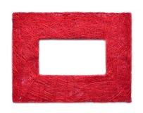 rabatowa ramowa czerwona tekstura Obraz Royalty Free