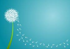 rabatowe dandelion serca notatki Obrazy Royalty Free
