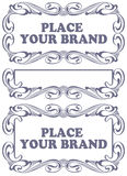 Rabatowe styl etykietki na różnych tematach Zdjęcie Royalty Free