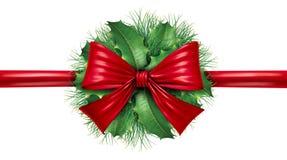 rabatowego łęku kółkowa dekoraci sosny czerwień Obraz Royalty Free