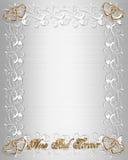 rabatowego zaproszenia atłasowy ślubny biel Fotografia Royalty Free