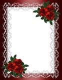 rabatowego zaproszenia czerwony róż target1940_1_ ilustracji