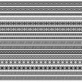 Rabatowi dekoracja elementów wzory w czerni i w obrazy stock