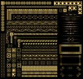 Rabatowi złoto Elementy Zdjęcie Stock