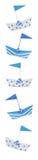 rabatowy łodzi vertical zdjęcie royalty free