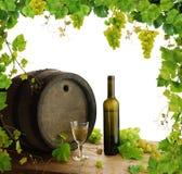 rabatowy życia wciąż winogradu wino Zdjęcie Royalty Free