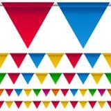 rabatowy chorągiewki flaga przyjęcie Zdjęcia Stock
