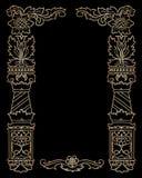 rabatowy dekoracyjny rocznik ilustracja wektor