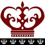 rabatowy korony ikony królewiątko Fotografia Royalty Free