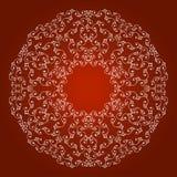 Rabatowy ornament na czerwonym tle Zdjęcia Stock