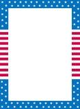 rabatowy patriotyczny Zdjęcie Stock