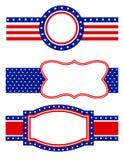 rabatowy patriotyczny Fotografia Stock