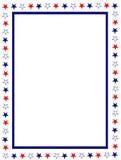 rabatowy patriotyczny Zdjęcia Stock