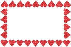 rabatowy ramowy kierowy valentine royalty ilustracja